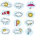 Free Weather Icons Royalty Free Stock Image - 19855076