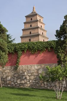 Free Wild Goose Pagoda In Xian At Twilight Royalty Free Stock Photo - 19850125