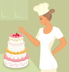 Free Cherry Cake Royalty Free Stock Image - 19850126