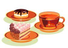 Free Tea And  Cake. Stock Image - 19850131