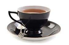 Free Black Tea Cup On White Royalty Free Stock Images - 19850269