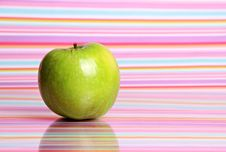 Free Apple On Stripy Background Stock Images - 19850864