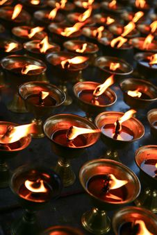 Free Candles In A Chinese Temple Royalty Free Stock Images - 19851359