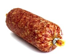 Free Salami Isolated On A White Stock Images - 19852024