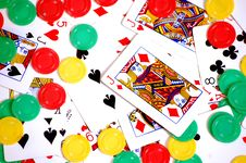 Free Poker Cards And Chips Stock Photography - 19852092
