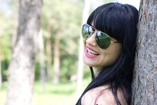 Free Beautiful Woman Wearing Sunglasses Royalty Free Stock Photo - 19852605