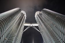 Petronas At Night Stock Photo