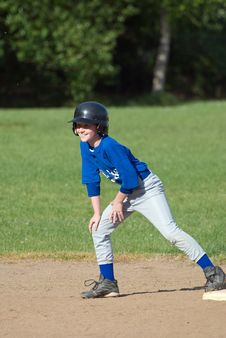 Free Happy Player On 3rd Base. Royalty Free Stock Photo - 19853125