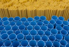 Blue Yellow Pvc Pipe Stock Image