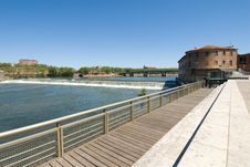 Free Viewing Platform And Garonne River Stock Image - 19853951