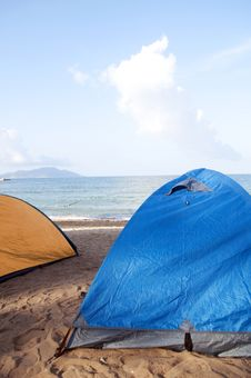 Free Beach Camping Stock Photography - 19854042