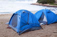 Free Beach Camping Royalty Free Stock Photo - 19854065