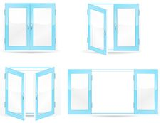 Free Blue Windows Royalty Free Stock Image - 19854256