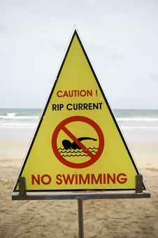 Free Swimming Sign Royalty Free Stock Photography - 19854587