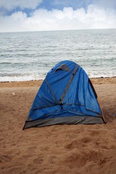 Free Beach Camping Royalty Free Stock Photos - 19854618
