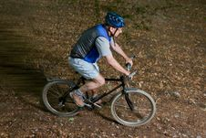 Free Senior On A Mountainbike Stock Photography - 19855242