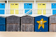 Free Broadstairs Beach Huts Royalty Free Stock Photo - 19855325