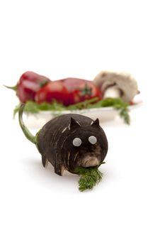 Free Vegetable Thief Rat Running Stealing Stock Image - 19855341
