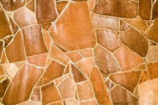 Wall Made Of Natural Stones Royalty Free Stock Photography