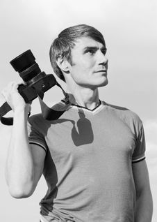 Free Portrait Of The Photographer. Stock Images - 19855424