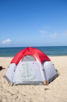 Free Beach Camping Royalty Free Stock Image - 19855556