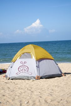 Free Beach Camping Royalty Free Stock Photography - 19855617