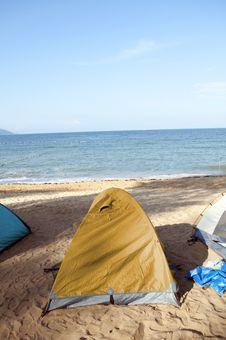Free Beach Camping Royalty Free Stock Photos - 19855798