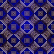 Free Gold Blue Background Stock Photo - 19855860