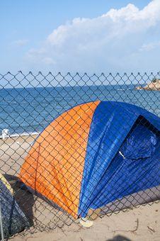 Free Beach Camping Stock Image - 19856071