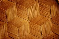 Free Bamboo Wooden Texture Hexagon Shape Style Stock Image - 19856121