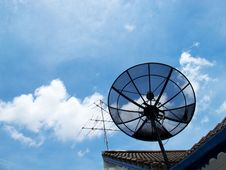 Antenna & Dish Royalty Free Stock Photo