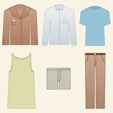 Free Men Clothes Icons Royalty Free Stock Image - 19856566