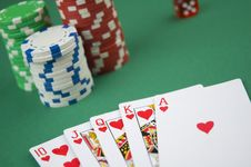 Free Poker Royal Flush Royalty Free Stock Photo - 19857245