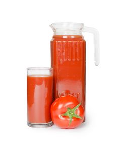 Free Tomato Juice  Isolated On White Stock Image - 19867871
