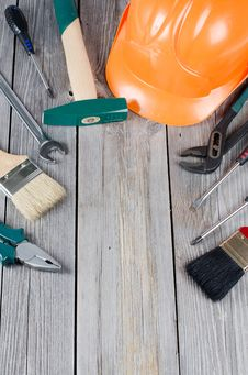 Free Set Building Tools Royalty Free Stock Photo - 19867885