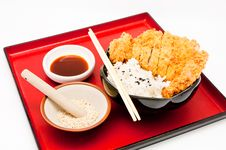 Free Rice And Fried Pork Cutlet Stock Photos - 19868183