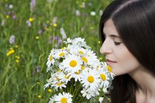 Free Detail Of A Beautiful Girl With Flowers Royalty Free Stock Images - 19869329