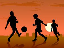 Free Soccer Players Royalty Free Stock Image - 19869356