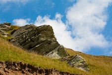 Free Mountain Rock And Sky Royalty Free Stock Image - 19869486