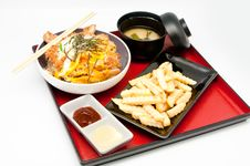 Free Japanese Cuisine And French Fries Stock Photo - 19869490