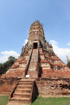Free Historic City Of Ayutthaya - Wat Chai Wattanaram Royalty Free Stock Image - 19869506
