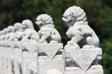 Free White Marble Carved Lions Stock Photos - 19869723