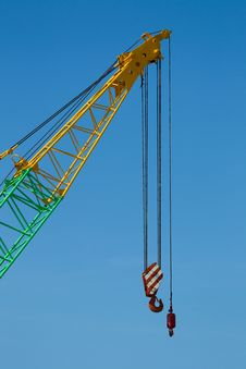 Free Crane Boom With Main And Jib Block Royalty Free Stock Photos - 19869838