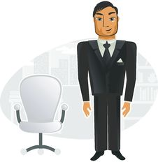 Free Man In Office (vector) Stock Photos - 19870303