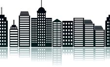 Modern City In Vector Royalty Free Stock Photography
