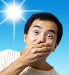 Free A Stunned And Surprised Man Royalty Free Stock Photo - 19870435