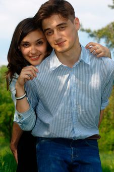 Romantic Young Couple Royalty Free Stock Image