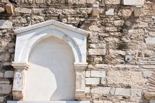 Free An Arch Wall In Greece Royalty Free Stock Photos - 19871928
