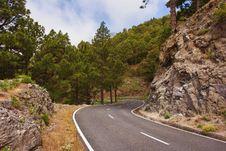 Mountain Road To Roque De Los Muchachos Stock Photo