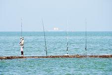 Free Fishing At Pattaya Royalty Free Stock Photo - 19872345